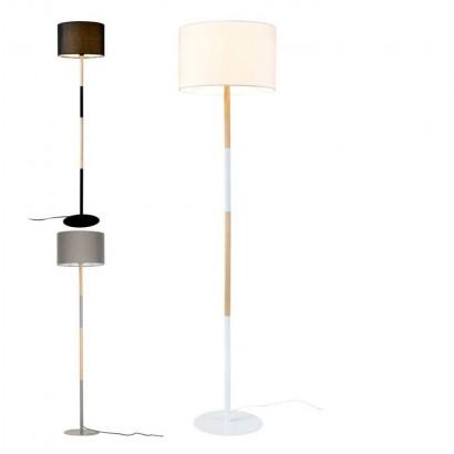 Sweden Wooden Floor Lamp Black