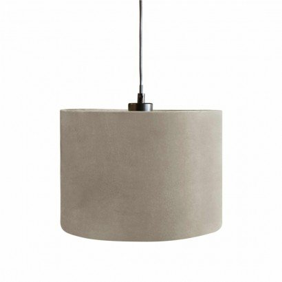 Suspension en velours Taupe