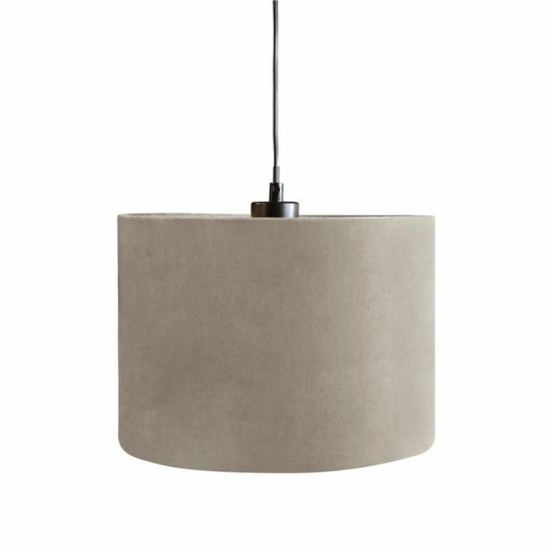 Suspension lampshade velvet Taupe d28cm
