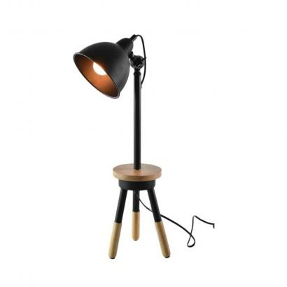 LALOU Lampe en bois Blanc +...