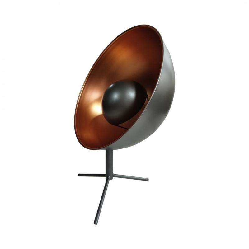 Industriële metalen lamp Projector Grijs d30.5cm