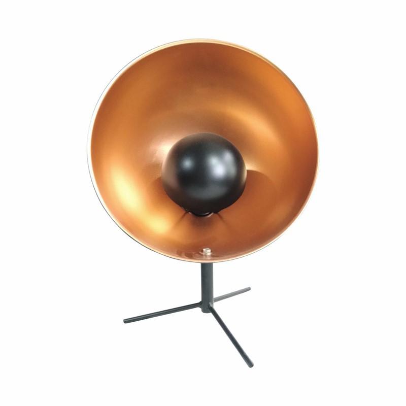 Industrial Metal Lamp Projector Black d30.5cm