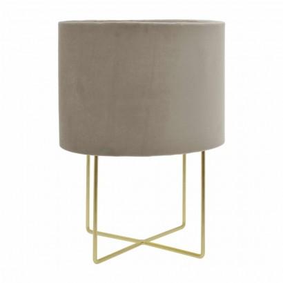Velvet table lamp Taupe