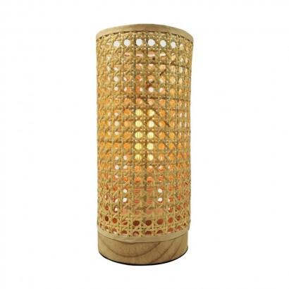 Lampe de table en rotin...