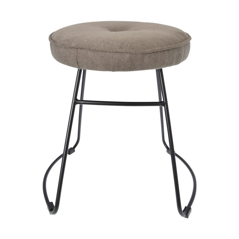 Stool with upholstered seat Upholstered fabric