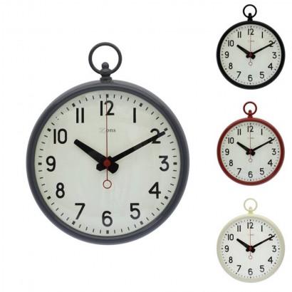 Horloge métal blanc
