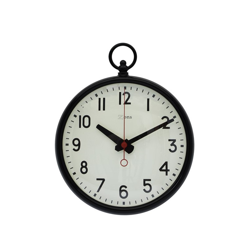 Horloge métal noir