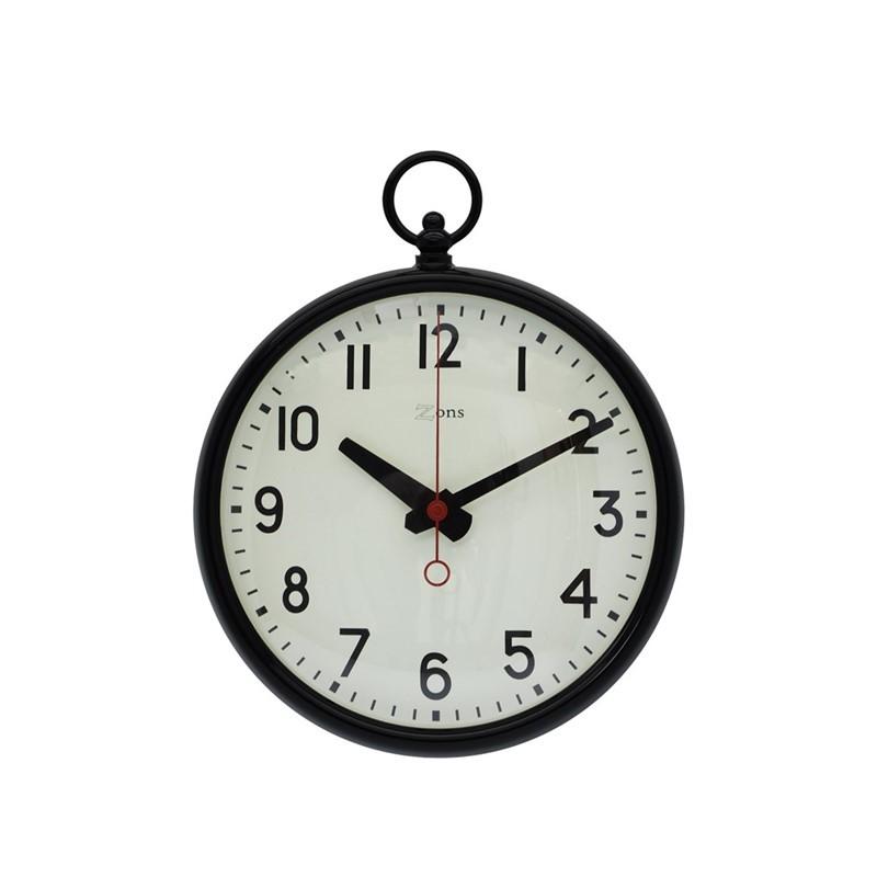 Zwarte metalen klok