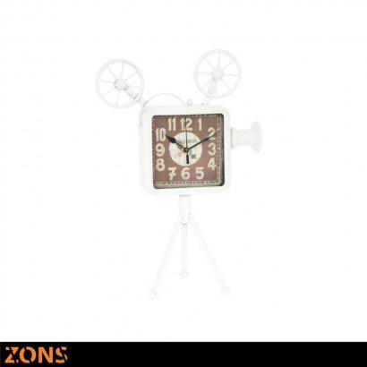 Horloge métal sur pied Blanc