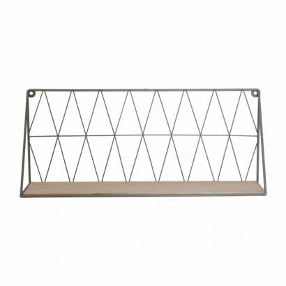 White metal wall shelf...