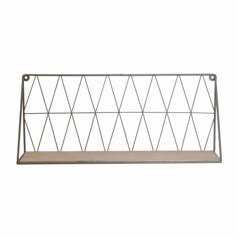 White metal wall shelf 20x12xL 48cm