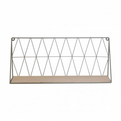 Wall Shelf in metal GREY