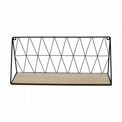 Wall Shelf in metal BLACK