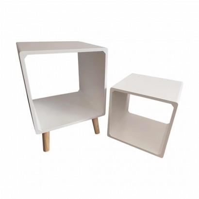 Side table + wooden shelf...
