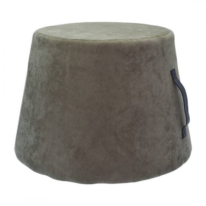Tabouret en Tissu avec poignée en PU