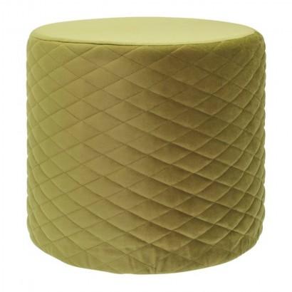 Round padded Hester velvet...