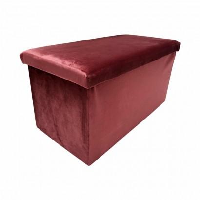 Velvet box stool - Makro...
