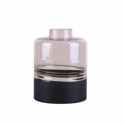 Vase en verre transparent fumé