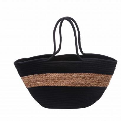 Straw bag 55x30cm black...