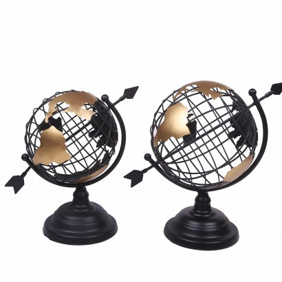 Globe Mapmonde métallique...