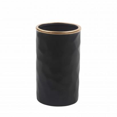 Vase en Céramique Noir avec...