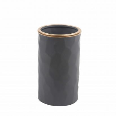 Vase en Céramique Gris avec...