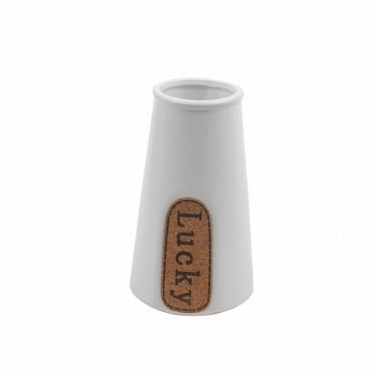 Vase en Céramique Blanc...