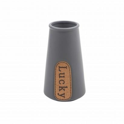 """Vase en Céramique Gris """"LUCKY"""""""