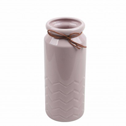 Vase OMEN rose H22,5