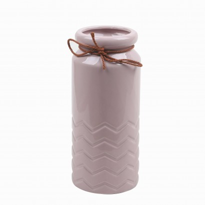 Vase en Céramique rose avec...