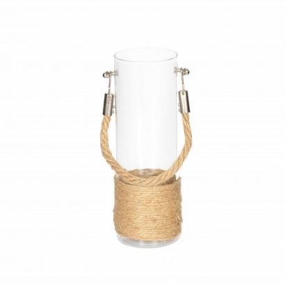 Vase en Verre avec Corde de...