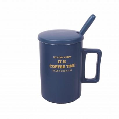 Ceramic Cup with Ceramic Spoon