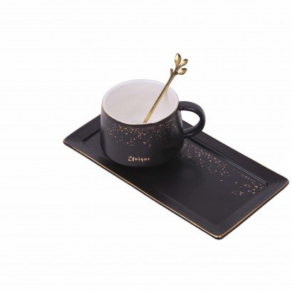 Ceramic Mug with Tray