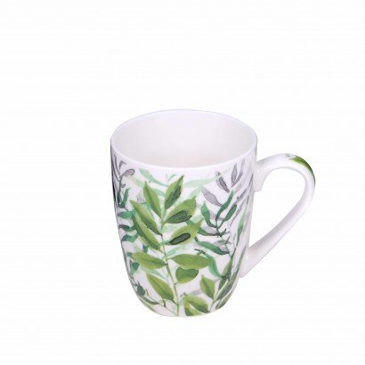 White mug with different...