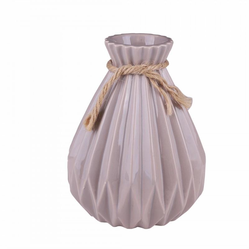 Vase DOHA brown H18