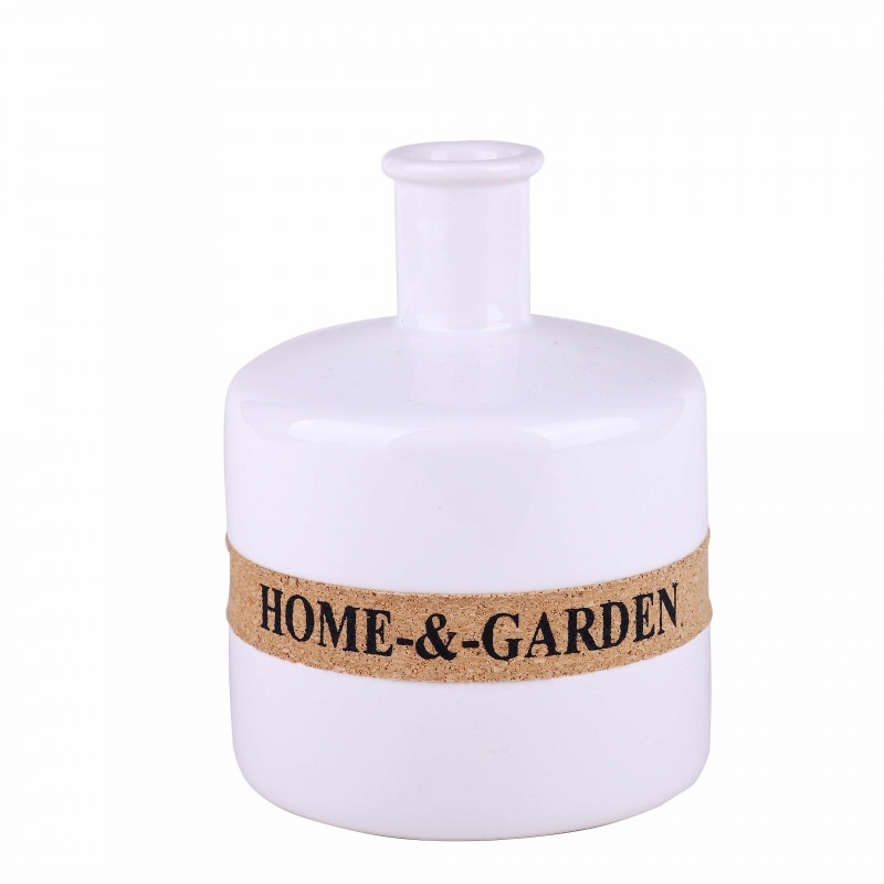 Vase INA white H14.5