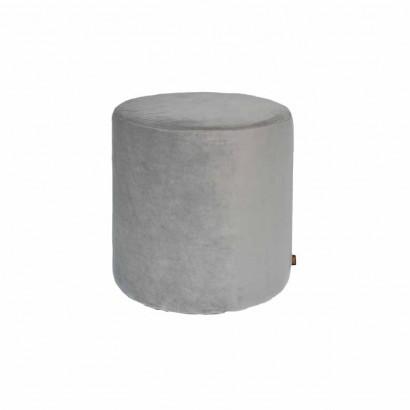 YPOS Pouf Cylindrique En Velours D33.5XH32CM JAUNE