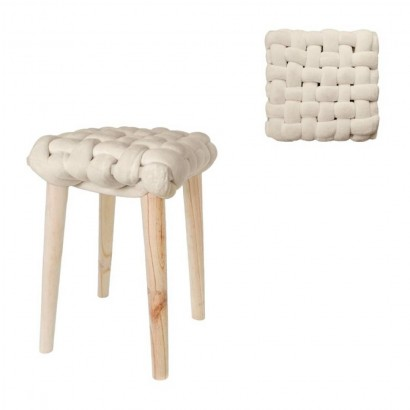 Knotted stool and wooden...
