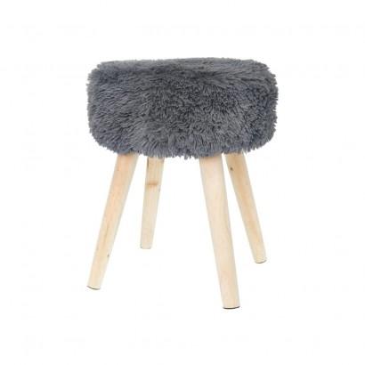 Faux fur stool SHAGGY -...