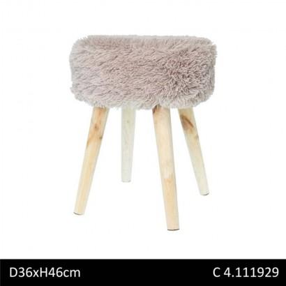 Fabric stool SHAGGY...