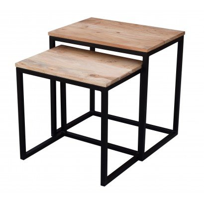 Set de 2 tables gigogne en...