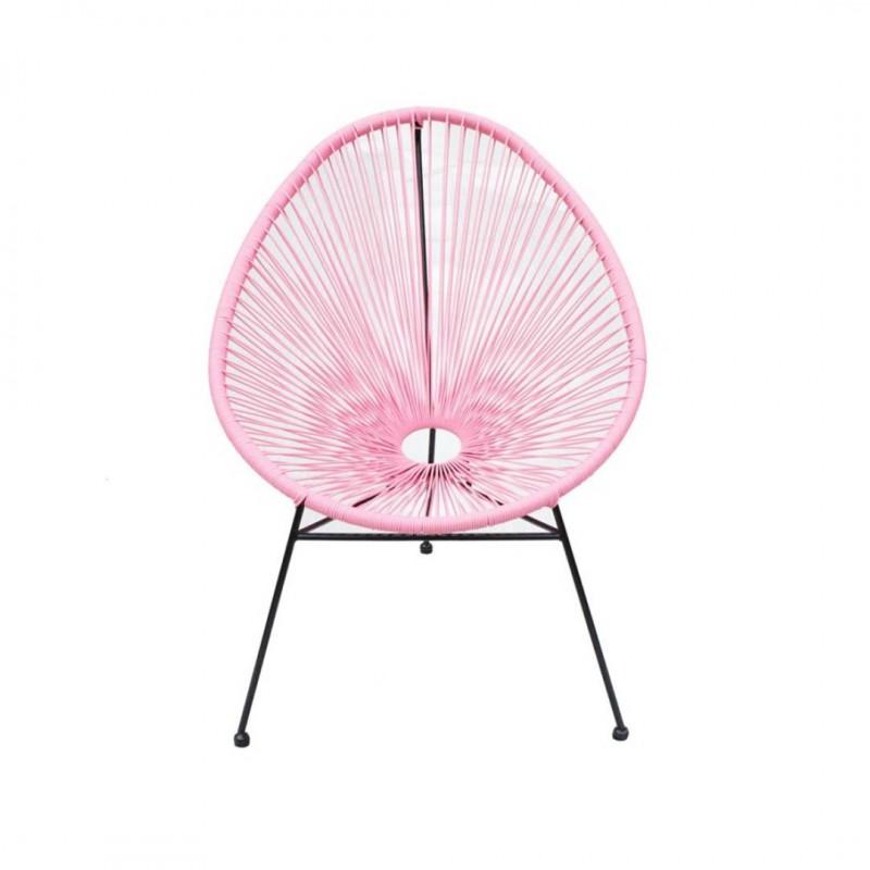 MEXICO fauteuil en métal Rose