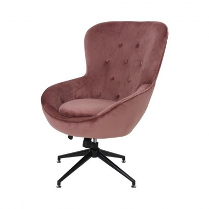 EVA velvet armchair - Pink
