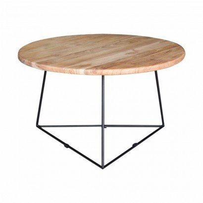 Round wooden coffee table...