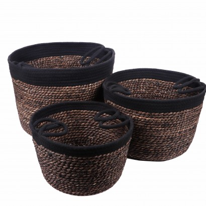 Set de 3 Paniers Noir