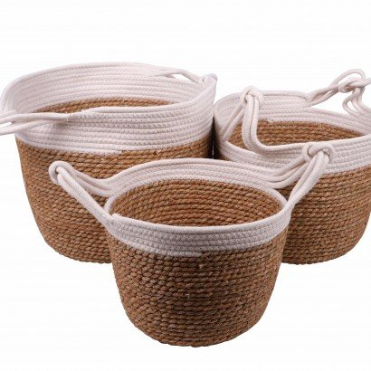 Set of 3 baskets White