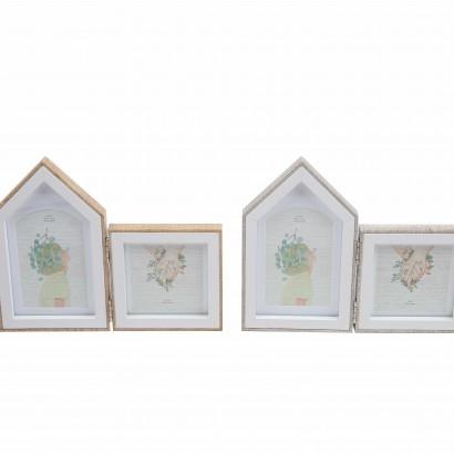 Cadre photos en bois à plier