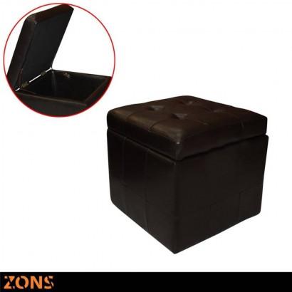 Brown box stool - Marron