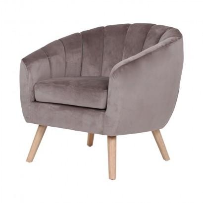 Velvet upholstered armchair...