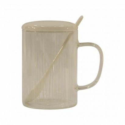 Tasse en Verre avec Cuillère